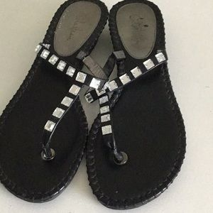 Cole Haan black bling sandals